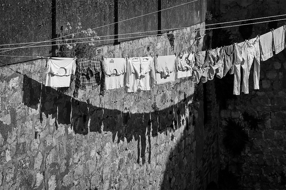 Hanging from the City Wall, Dubrovnik, Croatia