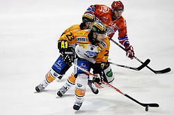 Florian Iberer of Graz during ice hockey match between HK Acroni Jesenice and  Moser Medical Graz 99ers in 24th Round of EBEL league, on December 3, 2010 in Arena Podmezakla, Jesenice, Slovenia.  (Photo By Vid Ponikvar / Sportida.com)