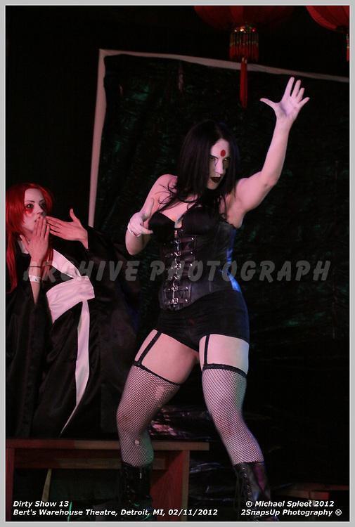 DETROIT, MI, SUNDAY, FEB. 12, 2012: Dirty Show 13, Erotic Kabuki Theater at Bert's Warehouse Theatre, Detroit, MI, 02/12/2012.  (Image Credit: Michael Spleet / 2SnapsUp Photography)