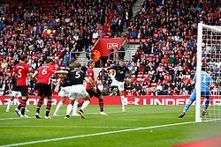 Jeff Hendrick of Burnley heads the ball towards goal only for it to be pushed wide by Alex McCarthy of Southampton - Mandatory by-line: Ryan Hiscott/JMP - 12/08/2018 - FOOTBALL - St Mary's Stadium - Southampton, England - Southampton v Burnley - Premier League