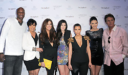 (L-R) Lamar Odom, Kris Jenner, Khloe Kardashian Odom, Kylie Jenner, Kim Kardashian, Kendall Jenner and Bruce Jenner at The Fragrance Launch event for 'Unbreakable by Khloe and Lamar' held at The Redbury Hotel in Hollywood, Los Angeles, CA, USA on April 04, 2011. Photo by Debbie VanStory/ABACAPRESS.COM  | 269940_018