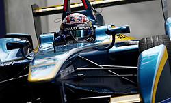 e.dams Renault driver Sebastien Buemi during the Visa London ePrix at Battersea Park, London.