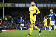 Chelsea forward Olivier Giroud  during the Premier League match between Everton and Chelsea at Goodison Park, Liverpool, England on 17 March 2019.
