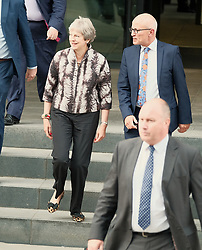 Theresa May meets with Nicola Sturgeon in Edinburgh, Tuesday 7th August 2018<br /> <br /> Pictured: Theresa May<br /> <br /> Alex Todd   Edinburgh Elite media