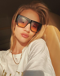 """Rosie Huntington-Whiteley releases a photo on Instagram with the following caption: """"Skylight \ud83d\udee9\u2600\ufe0f"""". Photo Credit: Instagram *** No USA Distribution *** For Editorial Use Only *** Not to be Published in Books or Photo Books ***  Please note: Fees charged by the agency are for the agency's services only, and do not, nor are they intended to, convey to the user any ownership of Copyright or License in the material. The agency does not claim any ownership including but not limited to Copyright or License in the attached material. By publishing this material you expressly agree to indemnify and to hold the agency and its directors, shareholders and employees harmless from any loss, claims, damages, demands, expenses (including legal fees), or any causes of action or allegation against the agency arising out of or connected in any way with publication of the material."""