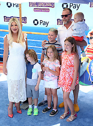 July 1, 2018 - Los Angeles, California, USA - 6/30/18.Tori Spelling, Dean McDermott and family at the premiere of ''Hotel Transylvania 3: Summer Vacation'' held at the Westwood Village Theatre in Los Angeles, CA. (Credit Image: © Starmax/Newscom via ZUMA Press)