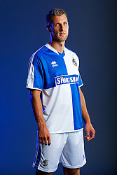 Lee Brown of Bristol Rovers poses in the new Home Strip ahead of the 2015/16 Sky Bet League Two campaign - Mandatory byline: Rogan Thomson/JMP - 07966 386802 - 22/07/2015 - SPORT - Football - Bristol, England - Memorial Stadium - Bristol Rovers Kit Launch.