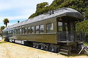Antique Southern Pacific Rail Car at the Train Station in Santa Barbara