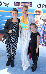 July 1, 2018 - Los Angeles, California, USA - 6/30/18.Jodie Sweetin with her daughters Zoie Laurel May Herpin and Beatrix Carlin Sweetin Coyle at the premiere of ''Hotel Transylvania 3: Summer Vacation'' held at the Westwood Village Theatre in Los Angeles, CA. (Credit Image: © Starmax/Newscom via ZUMA Press)