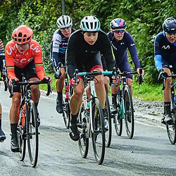 REUSSER Marlen ( SUI ) – Equipe Paule Ka ( EPK ) - SUI – Querformat - quer - horizontal - Landscape - Event/Veranstaltung: Liège Bastogne Liège - Category/Kategorie: Cycling - Road Cycling - Elite Women - Elite Men - Location/Ort: Europe – Belgium - Wallonie - Liège - Start: Bastogne-Womens Race - Liège-Mens Race - Finish: Liège - Discipline: Road Cycling - Distance: 257 km - Mens Race - 135 km - Womens Race - Date/Datum: 04.10.2020 – Sunday - Photographer: © Arne Mill - frontalvision.com