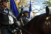 New York, NY-November 23: NYPD Mounted Unit attends the 91st Annual Macy's Thanksgiving Day Parade on November 23, 2017 held in New York City Credit: (Photo by Terrence Jennings/terrencejennings.com)
