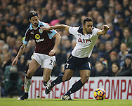 Tottenham's Mousa Dembele tussles with Burnley's George Boyd during the Premier League match at White Hart Lane Stadium, London. Picture date December 18th, 2016 Pic David Klein/Sportimage
