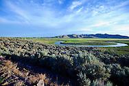 The oxbows on Silver Creek near Picabo, Idaho
