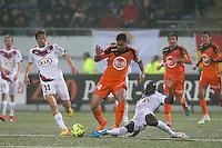 Wesley LAUTOA / Clement CHANTOME / Henri SAIVET - 02.05.2015 - Lorient / Bordeaux - 35eme journee de Ligue 1 <br />Photo : Vincent Michel / Icon Sport