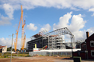a general view as The new stand at Anfield takes shape. Barclays Premier League match, Liverpool v Aston Villa at the Anfield stadium in Liverpool, Merseyside on Saturday 26th September 2015.<br /> pic by Chris Stading, Andrew Orchard sports photography.