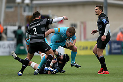 Worcester's Jack Singleton in action during the Gallagher Premiership match at Kingston Park, Newcastle.