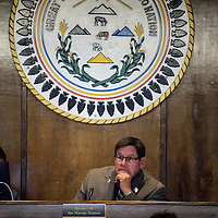 Speak LoRenzo Bates presides over a meeting of Navajo Nation Council in Window Rock Monday.