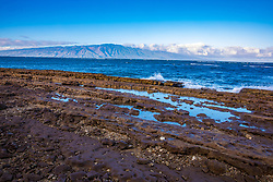 Lanai Coast With Maui In Background