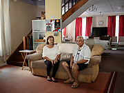 Colin and Marlene Yon, owner of the Town House Guest house in Jamestown