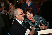 JOHN MORTIMER AND KATHY LETTE, Book launch for 'the Anti-social Behaviour of Horace Rumpole' by John Mortimer and 'A Voyage Round John Mortimer' by Valerie Grove. -DO NOT ARCHIVE-© Copyright Photograph by Dafydd Jones. 248 Clapham Rd. London SW9 0PZ. Tel 0207 820 0771. www.dafjones.com.