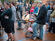"09 DECEMBER 2010 - PHOENIX, AZ:  People line up before the Barnes & Noble bookstore opened to get the autograph of George W. Bush at the Barnes & Noble Bookstore in Phoenix, AZ, Thursday, Dec. 9. More than 2,000 people lined up starting at 5AM to get copies of the former President's book, ""Decision Points."" A handful of protesters demonstrated against President Bush near the bookstore, calling him a ""war criminal.""  PHOTO BY JACK KURTZ"