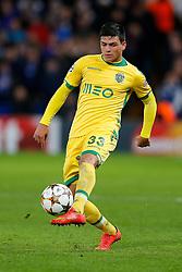 Jonathan Silva of Sporting in action - Photo mandatory by-line: Rogan Thomson/JMP - 07966 386802 - 10/12/2014 - SPORT - FOOTBALL - London, England - Stamford Bridge - Sporting Clube de Portugal - UEFA Champions League Group G.