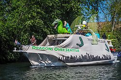 United States, Washington, Seattle. Washington, Seattle, Opening Day of Boating Season. Decorated boats.