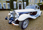 Panther car, speciality automobile designed and produced by Panther Westwind, on display at stately home Polesdon Lacey, Surrey
