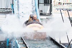 © Licensed to London News Pictures. 30/04/2016. Brighton, UK. The executive chairman of the Eclectic group and owner of the Brighton Pier, LUKE JOHNSON, visits the pier and takes a ride on the attractions one the May bank holiday weekend Saturday. Photo credit: Hugo Michiels/LNP