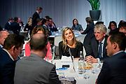 Koningin Maxima neemt deel aan het jaarlijkse evenement NLgroeit, een platform voor ondernemers die willen hun bedrijf te laten groeien in de Fokker Terminal in Den Haag <br /> <br /> Queen Maxima of The Netherlands attends the annual event NLgroeit, a platform for entrepreneurs who want to grow their business in the Fokker Terminal in the Hague
