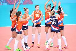 20150619 AZE: 1ste European Games Baku Servie - Nederland, Bakoe<br /> Nederland verslaat Servie met 3-2 /Vreugde bij Nederland