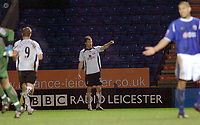 Photo: Kevin Poolman.<br />Leicester City v Fulham. The FA Cup. 06/01/2007. Brian McBride celebrates his goal and Fulham's first.