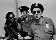 Big Audio Dynamite 1986 Medicine Show Video Shoot, Joe Strummer and Paul Simonon
