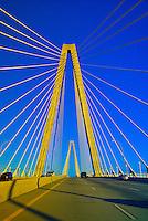 Crossing over the Arthur Ravenel, Jr. Bridge (the Cooper River Bridge), Charleston, South Carolina