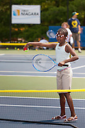 First Niagara sponsors free tennis rackets and lessons for school children at the CT Tennis Center at Yale in New Haven, CT.