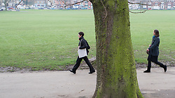 Young women walking in Endcliffe Park, Sheffield