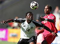 Fotball, 18. juni 2005, Confederations Cup Tunisia - Tyskland, v.l. Gerald Asamoah GER, Clayton<br /> Norway only