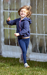 Mia Tindall at the Land Rover Gatcombe Horse Trials on the estate of the Princess Royal.