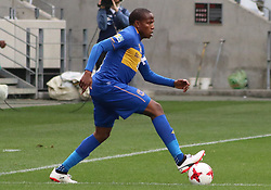 Cape Town City captain Lebogang Manyama in action against Polokwane City in an MTN8 quarter-final match at the Cape Town Stadium on August 12, 2017 in Cape Town, South Africa.