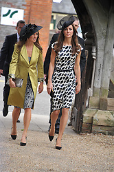 The Wedding of Sam Waley-Cohen to Miss Annabel (Bella) Ballin at St Michael & All Angels Church, Lambourn, Berkshire on 11th June 2011.<br /> Picture Shows:-HRH THE DUCHESS OF CAMBRIDGE & PIPPA MIDDLETON
