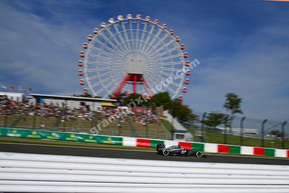 Kevin Magnussen (McLaren-Mercedes) during qualifying for the 2014 Japanese Grand Prix in Suzuka. Photo: Grand Prix Photo