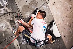 MCCOLL Sean of Canada during Finals IFSC World Cup Competition in sport climbing Kranj 2019, on September 29, 2019 in Arena Zlato polje, Kranj, Slovenia. Photo by Peter Podobnik / Sportida