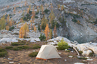 Backcountry Camp at Stiletto Lake, North Cascades National Park Washington