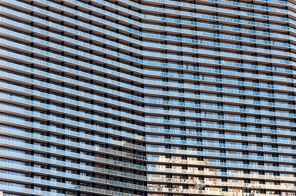 United States, Nevada, Las Vegas Strip. Hotel facade close to Bellagio.