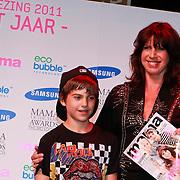 NLD/Amsterdam/20110413 - Mama of the Year award 2011, Isa Hoes en zoon Merlijn