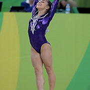 Gymnastics - Olympics: Day 2   Flavia Saraiva #316 of Brazil performing her Floor routine during the Artistic Gymnastics Women's Team Qualification round at the Rio Olympic Arena on August 7, 2016 in Rio de Janeiro, Brazil. (Photo by Tim Clayton/Corbis via Getty Images)