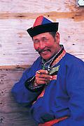 Buryat man<br /> Eastern Steppe<br /> Mongolia