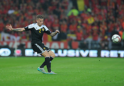 Toby Alderweireld of Belgium (Southampton) - Photo mandatory by-line: Alex James/JMP - Mobile: 07966 386802 - 12/06/2015 - SPORT - Football - Cardiff - Cardiff City Stadium - Wales v Belgium - Euro 2016 qualifier