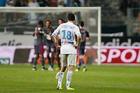 FOOTBALL - FRENCH CHAMPIONSHIP 2011/2012 - L1 - OLYMPIQUE MARSEILLE v STADE RENNAIS  - 10/09/2011 - PHOTO PHILIPPE LAURENSON / DPPI - DESPAIR MORGAN AMALFITANO AFTER MATCH (OM)