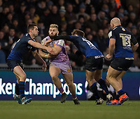 Exeter Chiefs' Luke Cowan-Dickie in action during todays match<br /> <br /> Photographer Bob Bradford/CameraSport<br /> <br /> European Rugby Heineken Champions Cup Group B - Exeter Chiefs v Sale Sharks - Sunday 15th December 2019 - Sandy Park - Exeter<br /> <br /> World Copyright © 2019 CameraSport. All rights reserved. 43 Linden Ave. Countesthorpe. Leicester. England. LE8 5PG - Tel: +44 (0) 116 277 4147 - admin@camerasport.com - www.camerasport.com
